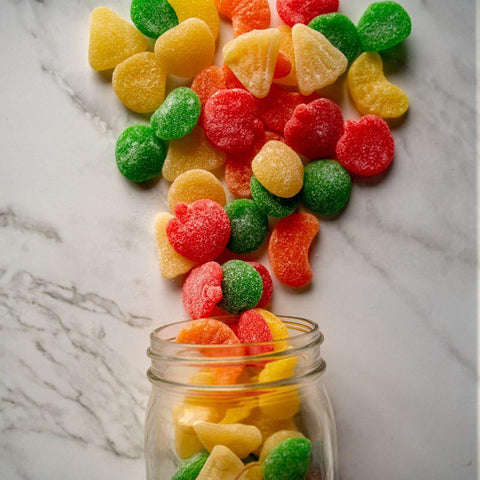 gummy fruit salad