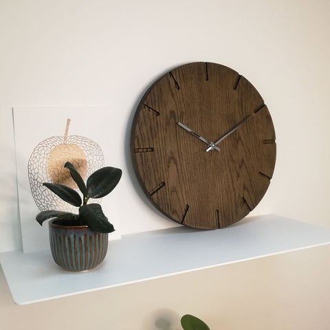 Large wall clock made of solid wood - Samedi