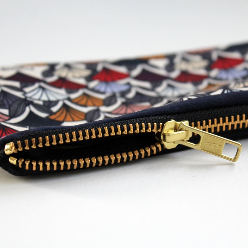 Pochette zippée en velours - This is my Blue Jay