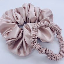 Load image into Gallery viewer, Silk Scrunchie Duo