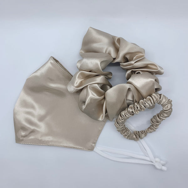 Silk Face Covering and Scrunchie Set