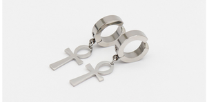 Stainless steel cross ear clip