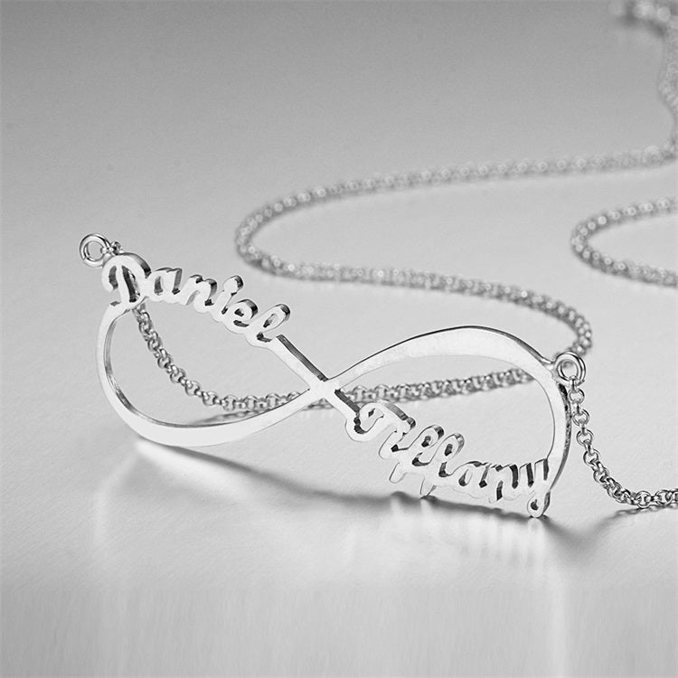 DIY Personality Creative Series Custom Jewelry Gift 925 Sterling Silver Letter Pendant Name Necklace