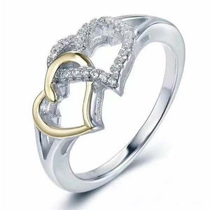 Fashion simple love color ring female