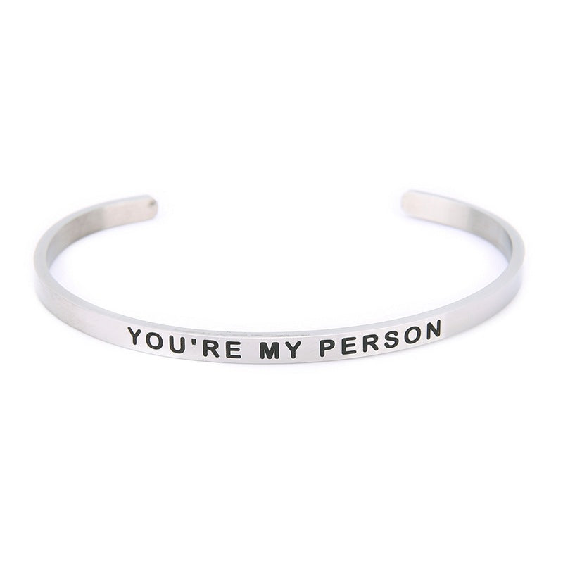 YOU'RE MY PERSON Lettering Bracelet