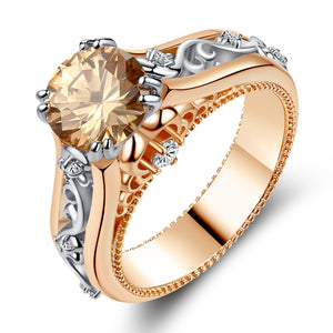 Rose gold-plated color separation ring