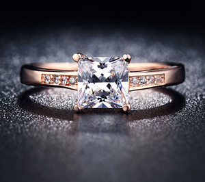 MDEAN ring High quality inlaid zircon trend ring High-grade rose gold plated 18KR012