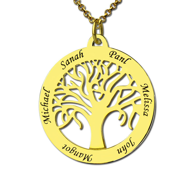 DIY custom family tree of life English alphabet necklace