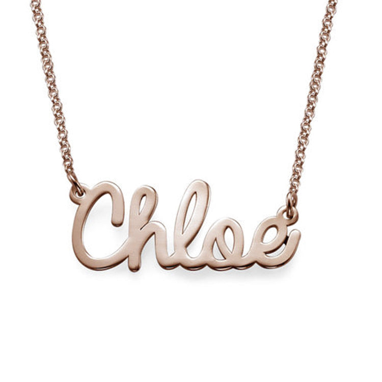 Fashion sterling silver letter name necklace