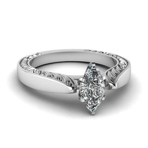 Vintage Marquise Style Engagement Ring