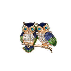 Fashion owl brooch