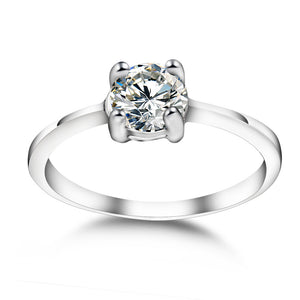 Zircon couple engagement ring set ring