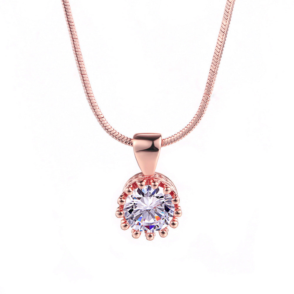 Rose gold and platinum plating pendant necklace