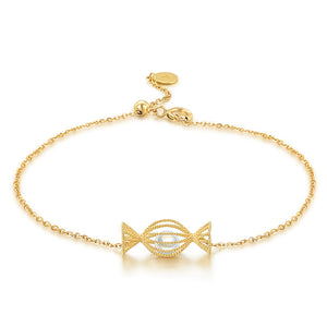 Candy plated 18k yellow gold bracelet