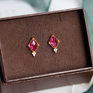 Vintage palace style diamond earrings