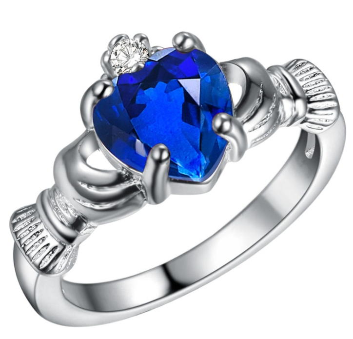 Platinum 925 Sterling Silver Jewelry New Jewelry Ring Wish Best Buy Europe and America Heart Shape Jewelry