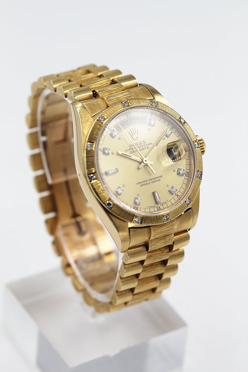 ROLEX<br>Oyster Perpetual Day-Date Gelbgold Diamanten