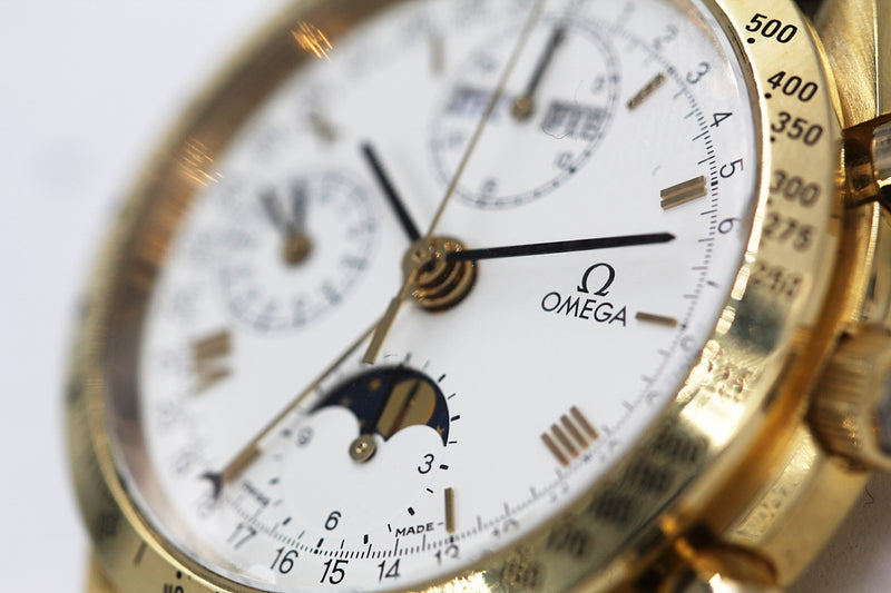 "OMEGA<br>Seamaster Voll-Kalender ""Reduced"" in Gelbgold"