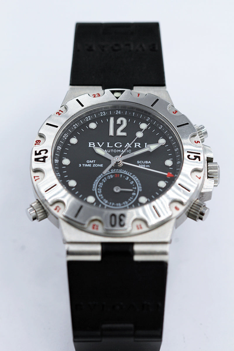 BULGARI<br>Scuba GMT-3 Time Zone