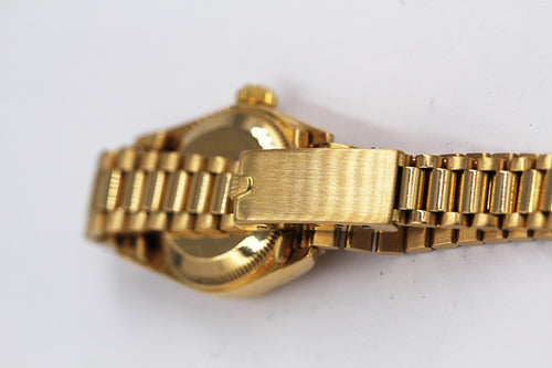 ROLEX<br> Lady Oyster Perpetual Gelbgold