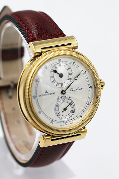 JAQUES LEMANS<br>Regulateur Gelbgold Limited Edition