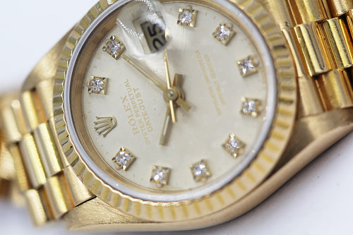 ROLEX<br>Lady Datejust Gelbgold Diamanten