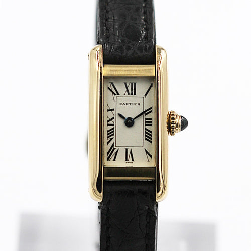 CARTIER <br> Mini Tank Gelbgold