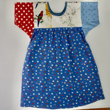 Load image into Gallery viewer, Size Medium Blue Parrot Smock Dress