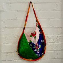 Load image into Gallery viewer, Blue and Green Silk Saddle Bag