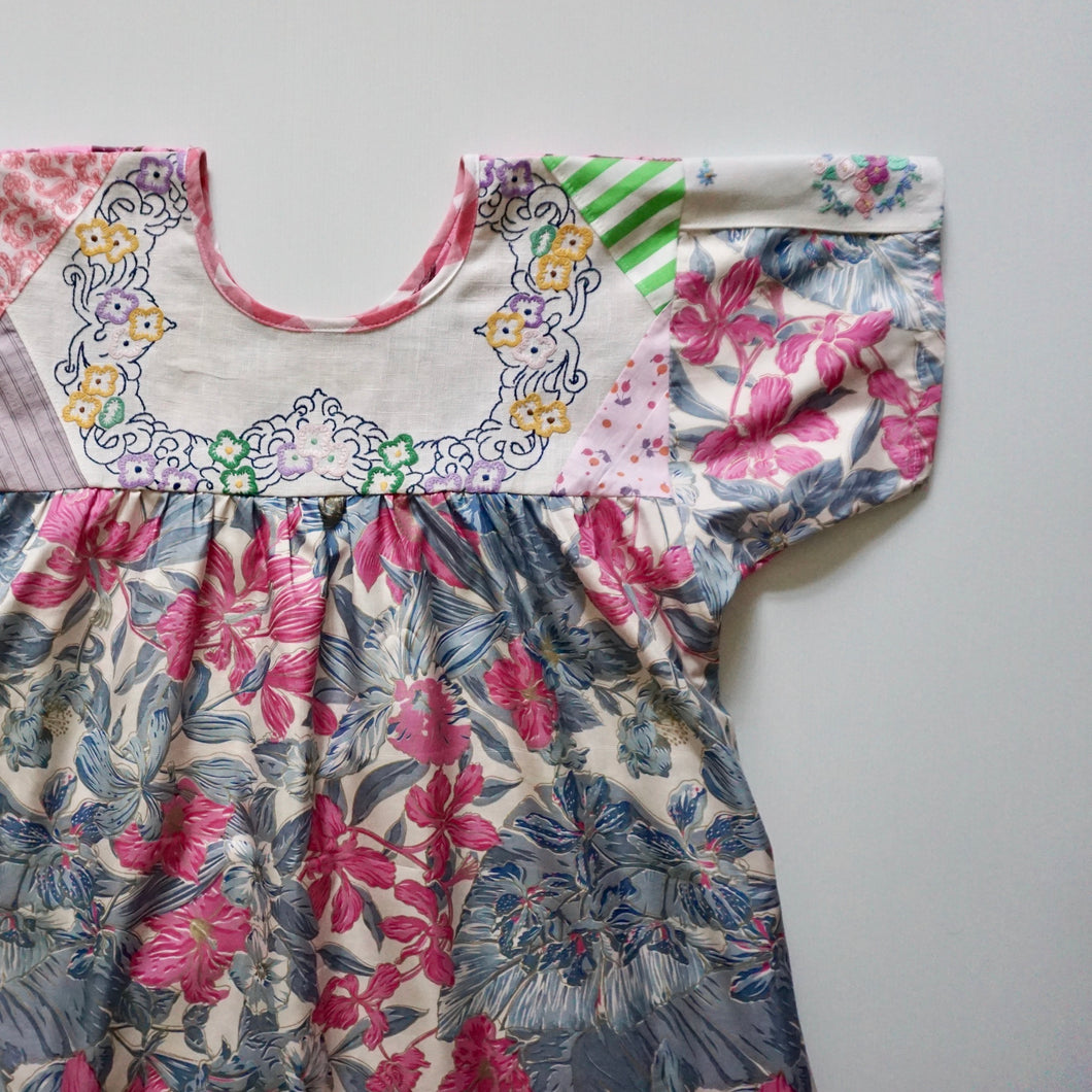 Size Medium All The Flowers Smock Dress
