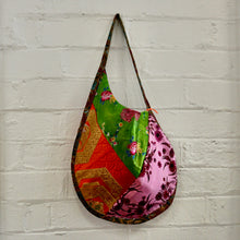 Load image into Gallery viewer, Red and Green Silk Saddle Bag