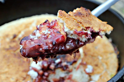 Blackberry Campfire Cobbler Recipe Image