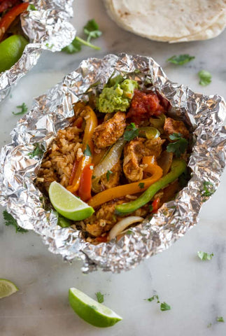 Chicken Fajitas Foil Packets Recipe Image