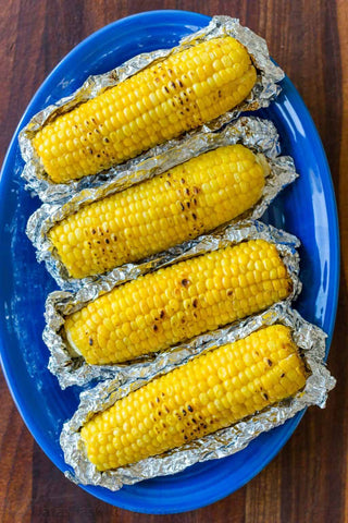 Grilled Corn in Foil with Lemon Dill Butter Recipe Image