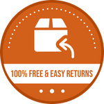 free returns and easy shipping badge