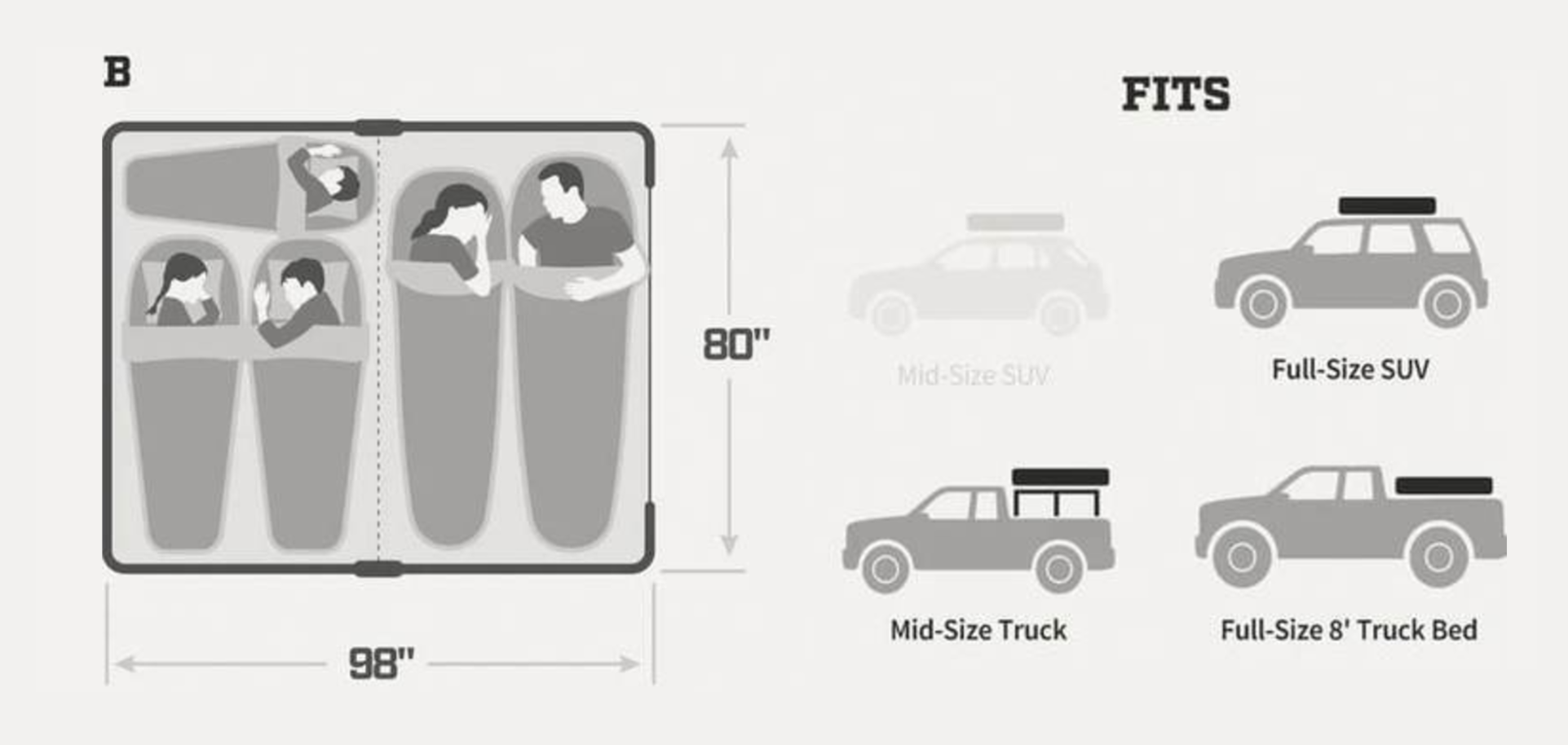 fsr high country 80 roof top tent specifications