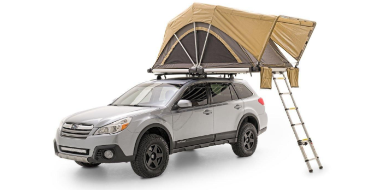 fsr high country 55 roof top tent front angle image