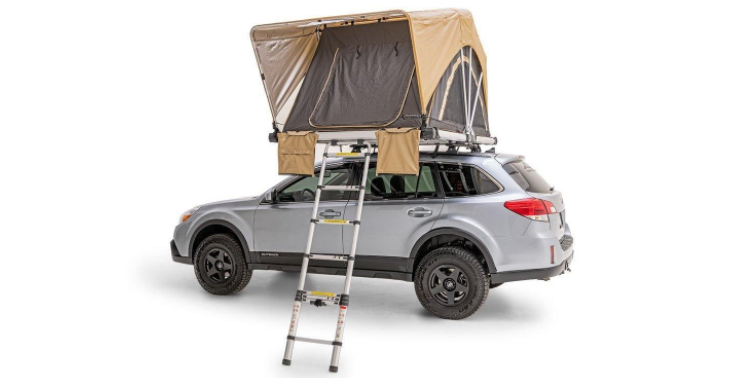 fsr high country 55 roof top tent side angle image