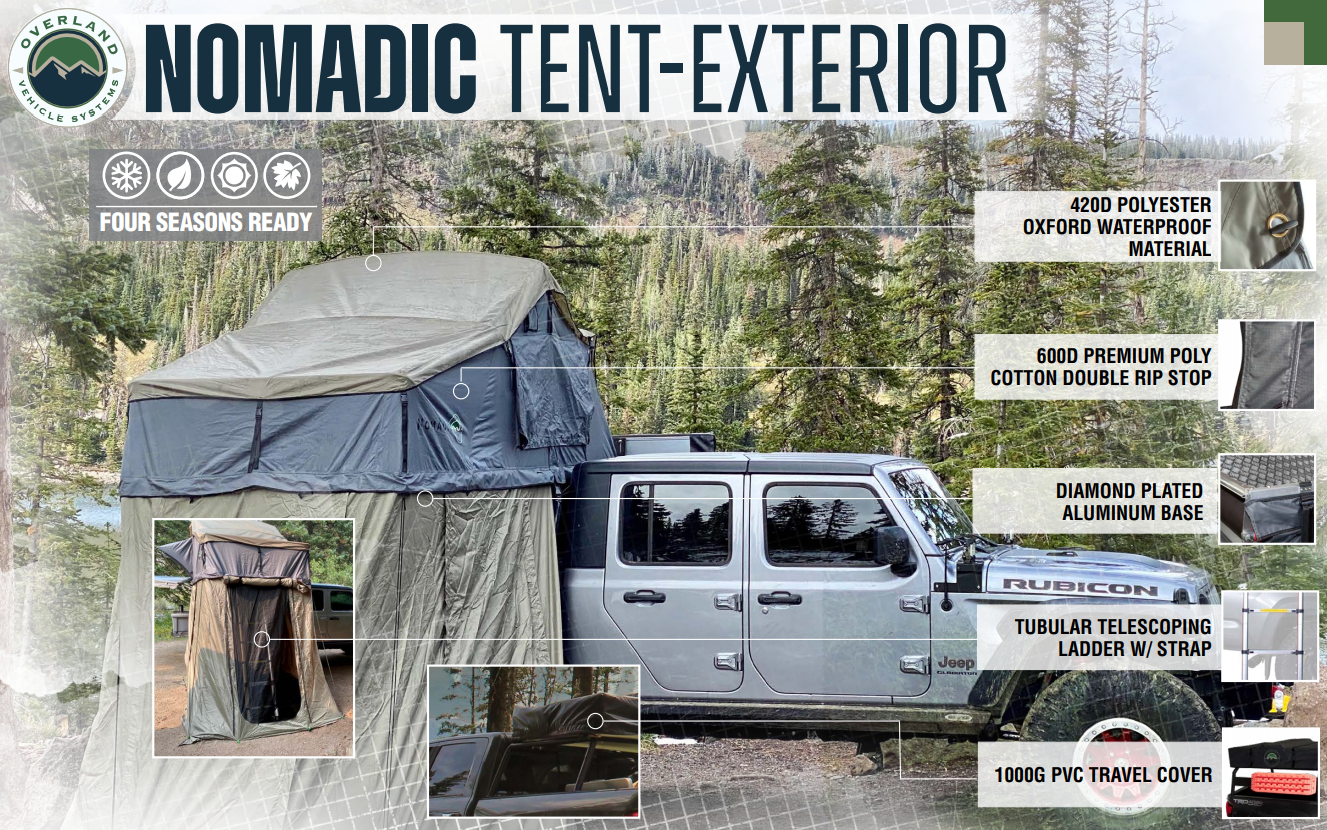 Nomadic 2 Roof Top Tent Specifications