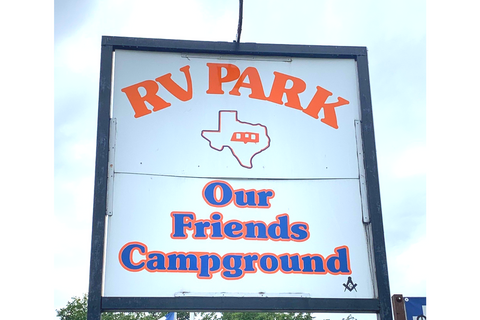 Our Friends Campground Logo