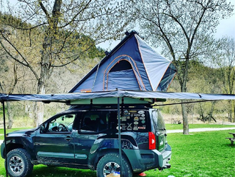 Overland Vehicle Systems Hard Shell Roof Top Tent