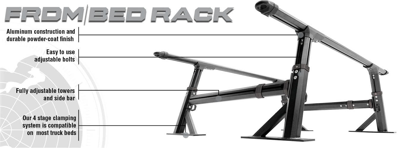 overland vehicle systems freedom bed rack features