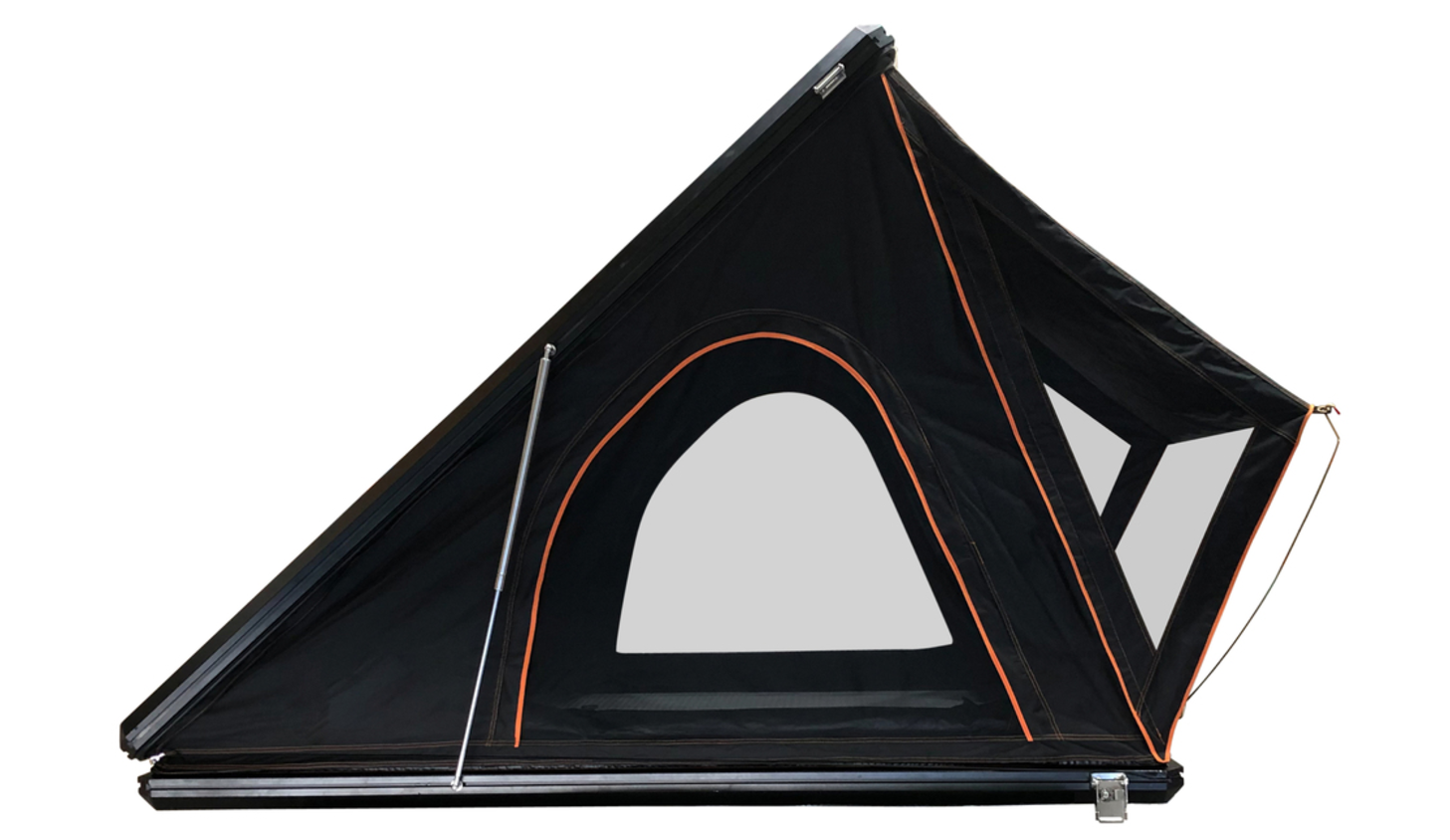 Overland Vehicle Systems Mamba Hard Shell Roof Top Tent Side Angle