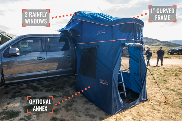 Rooftop tent features