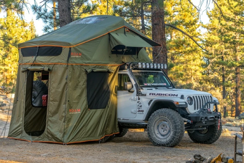 Vagabond XL Soft Shell Roof Top Tent Lifestyle Image