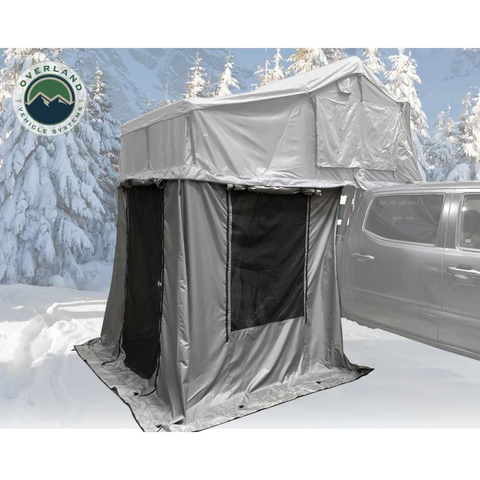 Image of Overland Vehicle Systems Nomadic 3 Extended Roof Top Tent With Annex - [product_type] - Overland Vehicle Systems - Family Tents World