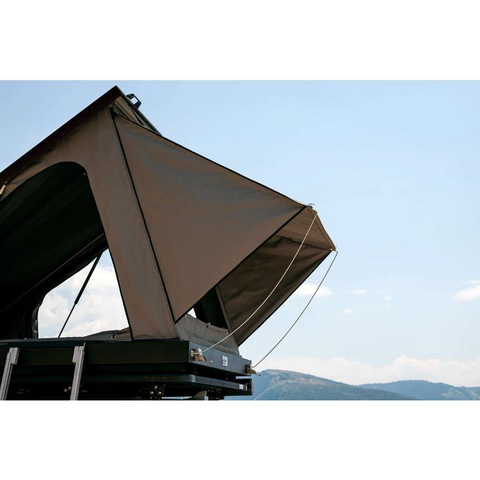 Eezi-Awn Blade Hard Shell Roof Top Tent Closeup Lifestyle Image
