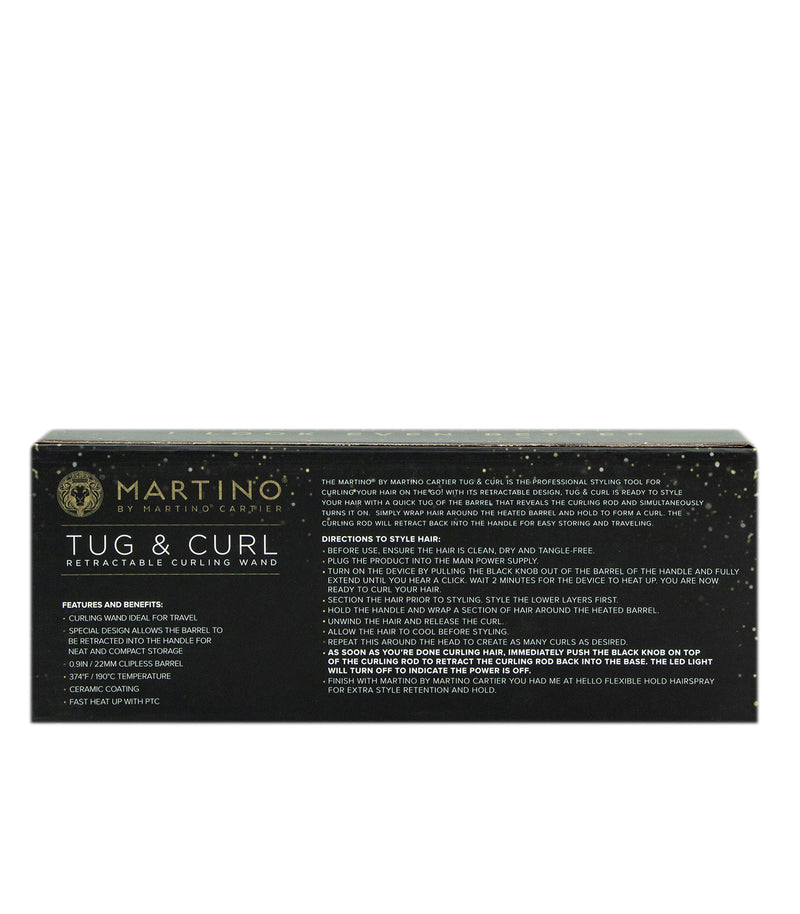 Tug & Curl Retractable Curling Wand