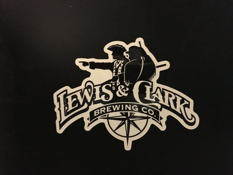 White Lewis & Clark Sticker