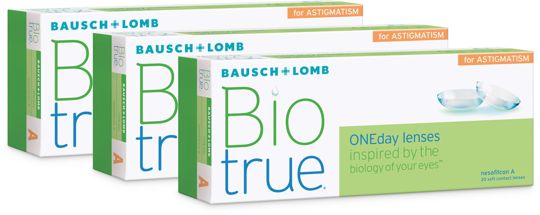 Biotrue ONEday for Astigmatism 3x30 pack
